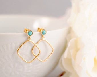 The Coco Earrings - Turquoise
