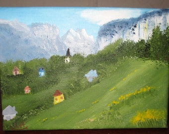 The Little Parish/Small oil painting