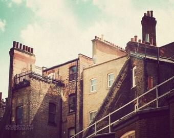 Rooftops of London -  London photography, England photograph, retro photography, England print, London art