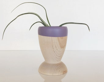 Small Wooden Planter, Air Plant, Succulent, Cactus Holder, Color Dipped Planter, solid wood by Willful