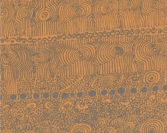 M & S Textiles, Australian Aboriginal Fabric, My Country Utopia, Gold, 100% cotton