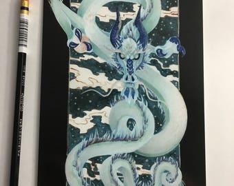 Art ala carte etsy print 55x85 inch pearl dragon ccuart Choice Image