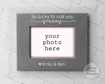 Gift for Granny | Mothers Day for Granny | Granny Birthday | Personalized Picture Frame |  Granny Frame | Gift from Grandkids  G04LuckyCall