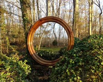 Convex Mirror, Round Mirror, Solid Wood Convex Mirror, Porthole Mirror