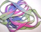 Discontinued/Experimental Silk Ribbon Sale/See Description/Sorry No Custom Orders/ Silk N' Sassy Ribbons 101-0731