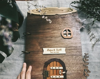 A4 Custom Tree House Guest book - Forest or Garden Wedding, Baby Shower, House warming or Anniversary gift