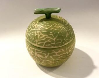 Lasio  for Mikasa Vintage Small Ceramic Lidded Jar