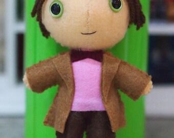 SALE - Doctor Who Inspired Eleventh Doctor Design Felt Figure