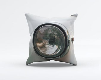 Vintage Car Light Pillow Cover 15 x 15 inch, Classic cushion cover, Decorative Pillow Cover, Home decor