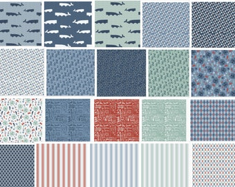 """Riley Blake Designs """"By The Sea"""" Layer Cake 42 Pieces, 2-3 pieces of each print in the fabric line. Great for quilting and monogramming!"""
