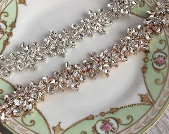 Crystal Headband, Bridal Headband, Vintage Headband, Wedding Hair Piece, Bridal Headpiece , Headpiece, Beaded Headband,  Crystal Hair Piece