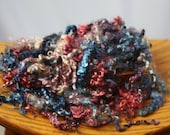 Dyed Kid Grade Mohair from Delaney Pink Blue Red 1oz 15 oz available
