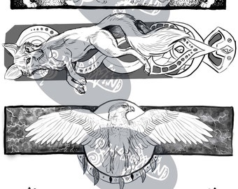 Digital Download Color Your Own Bookmarks North American Animals