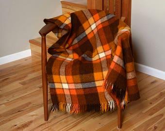 Unicum Select Dutch Plaid Wool Throw / Blanket by Vroom & Dressmann 1960's