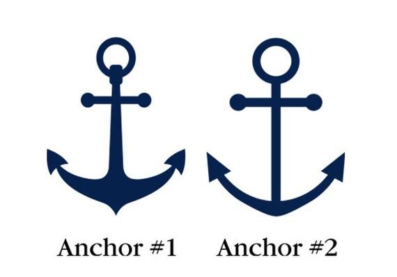 Nautical Anchor Wall Decal - Nautical Nursery - Anchor Stickers