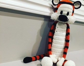 Crocheted Hobbes Inspired Stuffie - Calvin and Hobbes, tiger