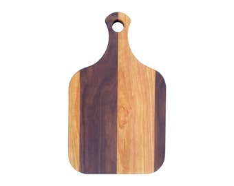 15 inch cutting board, cherry and walnut, small handmade cutting board