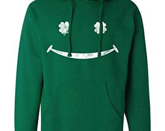 Irish Smiley Face Sweatshirt | St Patty's Hoodie