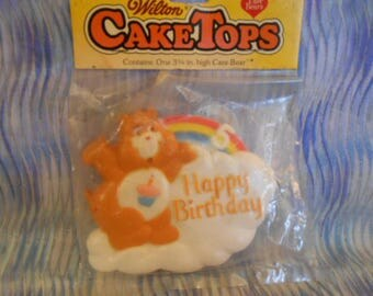 Wilton Care Bear Happy Birthday Cake Topper-Shipping Included