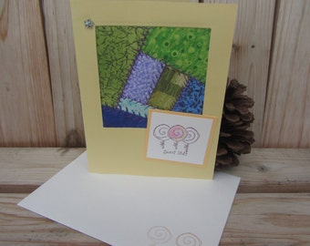 Sweet Stuff Lollipops Quilted Greeting Card