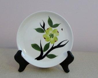 Dixie Dogwood Plates, Joni China, Dixie Dogwood Pattern, Hand Painted, 50's Cake / Bread Plates, EUC, set of 4 ~ BreezyJunction.etsy.com