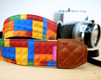 Personalize Camera Strap - Bricks for DSLR and Mirrorless