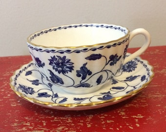 Vintage Spode Blue Colonel Cup and Saucer