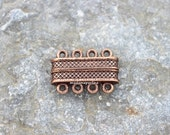 4 strand magnetic clasp copper plated extra strong turkish findings multistrand four strands clasps mdla240
