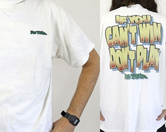 True Vintage NO FEAR T-shirt 'If You Can't Win Don't Play' 1990s