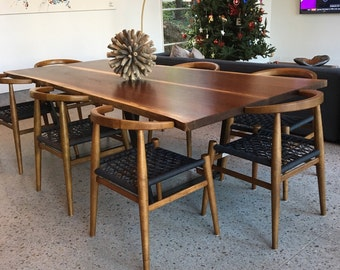 Live Edge Mesquite Dining Table With By AaronSmithWoodworker