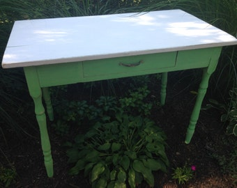 Old, Cottage Table