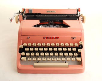 Pink Typewriter, Royal Quiet Deluxe, 1950s