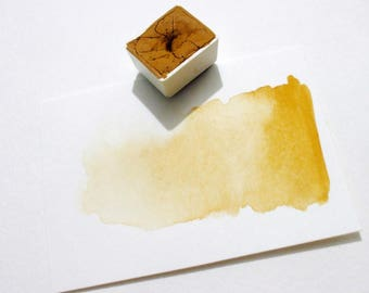 Yellow Ochre - Handmade Watercolor Paint
