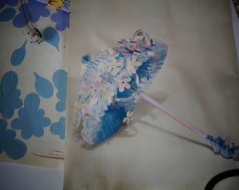 Vintage Hallmark Bridal Shower Umbrella Honeycomb Centerpiece