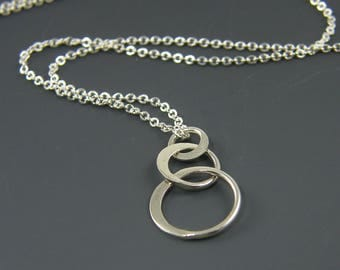 PENDANT ONLY - Sterling Silver Three Circles Pendant  SS1-3