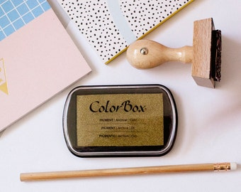 ColorBox Stamp Pad, Rubber Stamps, Rubber Stamp Ink, Stamp Pad, Stamping Ink, Inker, Gold Stamp Pad, Stamping Supplies