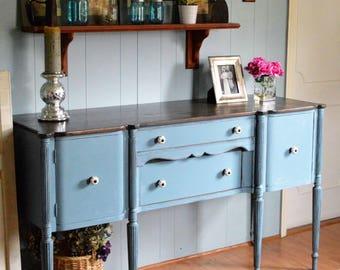 Stillwater Blue Vintage Sideboard