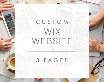 3 Page Custom Website Design on WIX - Professional e-commerce website for your business