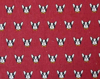 Bulldog print fabric.