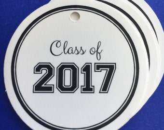 Class of 2017 / Graduation Gift tags / Favor tags / set of 10