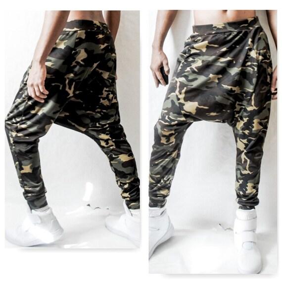 Dropped Crotch Camo Pants Harem Pants Joggers FOG Dance Justin Bieber