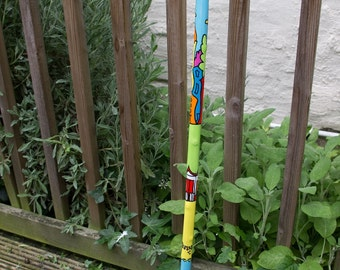 Hand painted walking stick