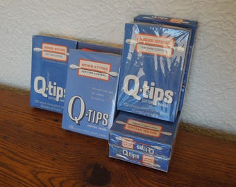 Vintage Wood Stick Q Tips NOS Original Package Unused