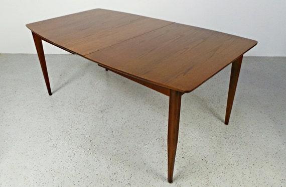 Sale Mid Century Modern Walnut Amp Oak Expanding Dining Table