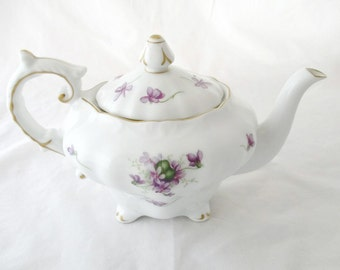 Rossetti Chicago Spring Violets Footed Teapot