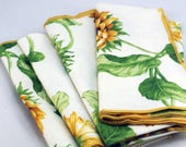 Summer Sunflower Fabric Napkins #154W