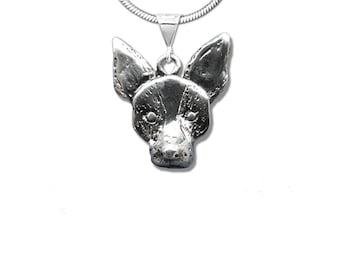 Sterling Silver Rat Terrier Pendant