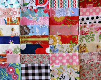Cotton fabric scraps for quilting crafting applique and doll clothes 1 pound ready to ship LOT 6