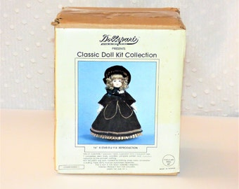 """Vintage Dollspart Classic Doll Kit Collection 16"""" STAR-R #114 Reproduction/ Porcelain Doll Making Kit"""