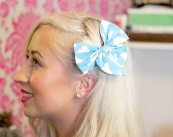 Small Cloud Hair Bow